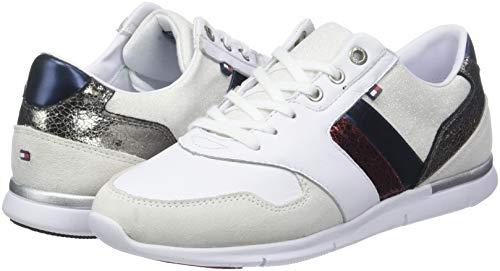 Tommy 020 rwb Basses Femme Leather Sneakers Light Sneaker Hilfiger Blanc 4qw4nrTfx
