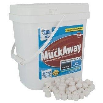 Pond Logic Muck Away Pond Beneficial Bacteria – 8 lbs. with BONUS Max Ponds Magnet Calendar