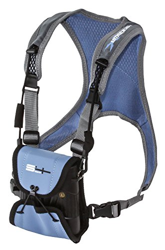 ands Free Adjustable Binocular Harness for use with Leupold, Nikon, Swarovski, Bushnell, Canon Etc, Blue ()