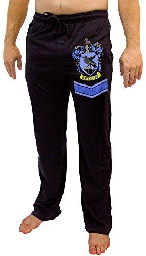 Harry Potter Ravenclaw Crest Lounge Pants - Black (X-Large) (Pants Harry Potter)