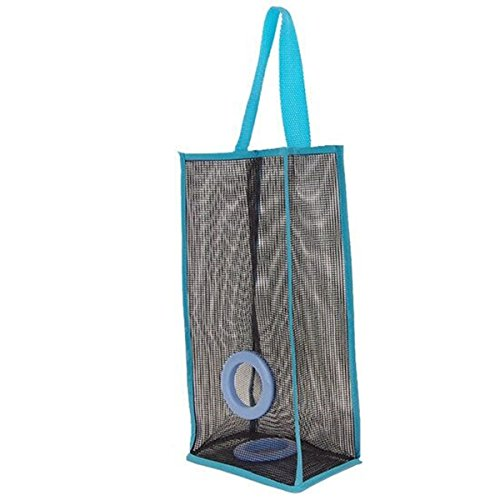 Trap Grocery Bag Dispenser,Saver Trash Bags Holder Garbage Bag Organizer Recycling Containers Bag Storage for Kitchen,Bathroom -Nylon + PVC 3 Colors (Glum)