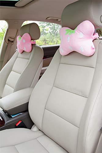 Sweet Strawberry Car Neck Pillows Car Headrest Pillows 2PCS by seemehappy (Image #1)'