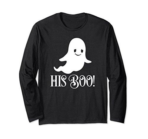 His Boo Couples Cute Halloween Ghost Long Sleeve Shirt -