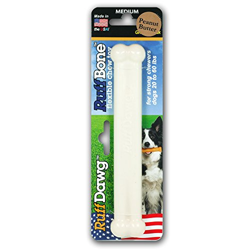 (Ruff Bone Peanut Butter Flavored Chew Toy, Medium)