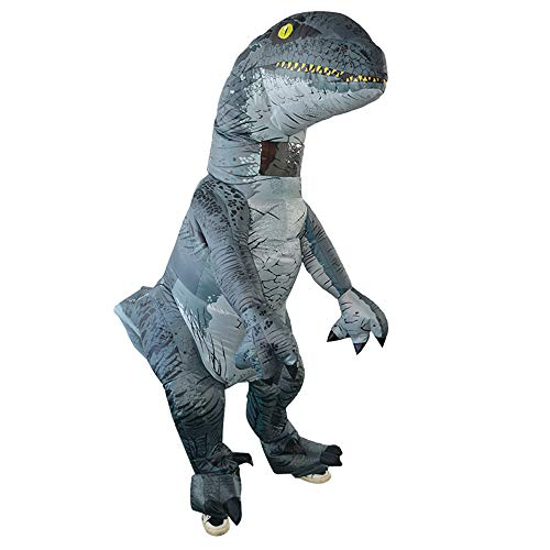 (Adult Inflatable Dinosaur Costume Halloween Cosplay Blow up Outfit)