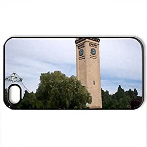 Spokane Park - Case Cover for iPhone 4 and 4s (Monuments Series, Watercolor style, Black)