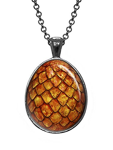 Fire Dragon Egg Pendant, The Hobbit Jewelry, Smaug Egg, Game of Thrones Jewelry, Geek Necklace, Girl Gift, Birthday Gifts, khaleesi, Daenerys (Dragon Girl Game Of Thrones)