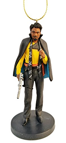 Star Wars Holiday Ornament - Lando Calrissian from Solo: A Star Wars Story Figurine Holiday Christmas Tree Ornament - Limited Availability - New for 2018
