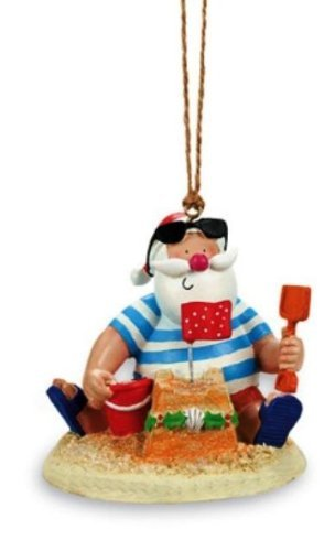Santa Claus Sand Castle Ornament