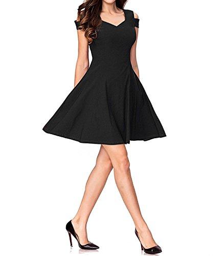 Line Women's A Burgundy Homecoming Black Off Skater Navy Shoulder Black Dresses SSrU7tZ