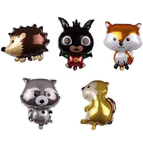 Divertidos globos para fiestas de animales del bosque ...