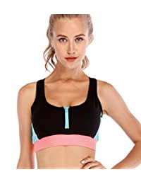 Yoga Sport Suits Sports Bra Yoga Pants Breathable Front Zipper Bra and Leggings