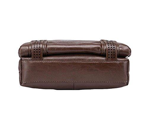 Bolso De Los Hombres Bolso De Hombro Ocio Messenger Bolsa Bolso Paquete De Negocio Ambiente De La Moda Brown2