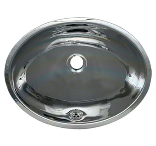 Whitehaus WH608ABL-POSS Oval Undermount Basin with Overflow,