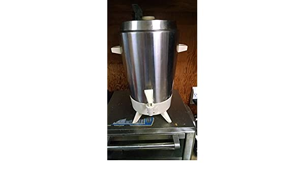Amazon.com   Vintage 1960s Montgomery Ward Signature 30 Cup Stainless Steel Coffee Urn Percolator: Coffee Urns