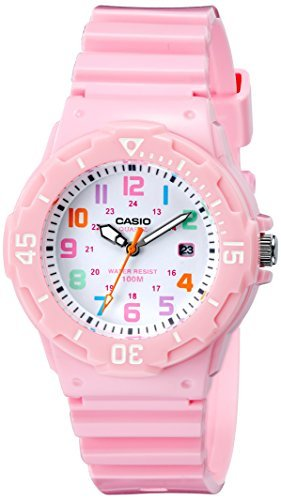 Casio Pink Dial (Casio Women's LRW-200H-4B2VCF Pink Stainless Steel Watch with Resin Band)