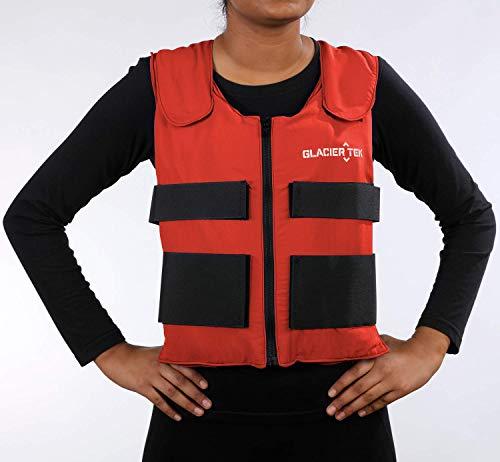 Glacier Tek Sports Cool Vest with Set of 8 Nontoxic Cooling Packs - Vest Cooling Phase Change