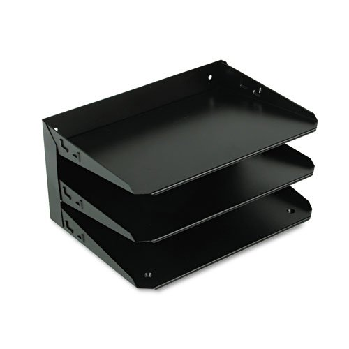 STEELMASTER Steel 3-Tier Legal Size Horizontal Organizer, 15 x 6.38 x 8.75 Inches, Black (2643HLBK)