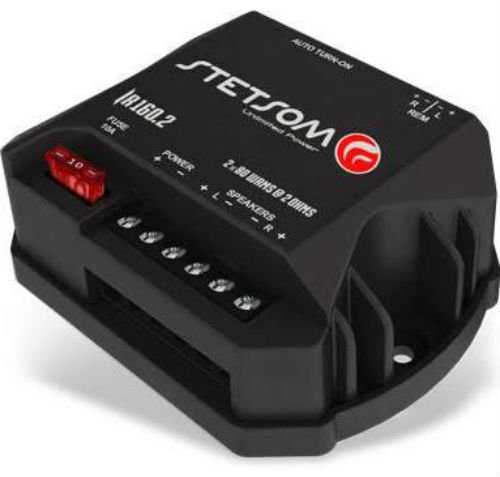 STETSOM IR160.2 2OHM digital amplifier with 2 channel of 80w rms 2 ohms by Lessco Electronics