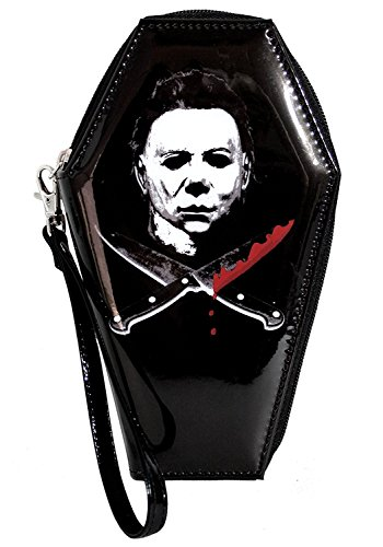 Halloween Michael Myers Crossed Knives Zip Around Coffin (Coffin Coin)