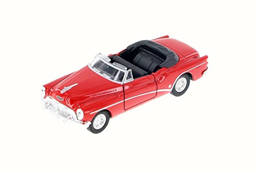 Buick Skylark Top Down Convertible, Red Top Down - Welly 43664C - 1/34 Scale Diecast Model Toy Car (Brand New but NO (Buick Convertible Cars)