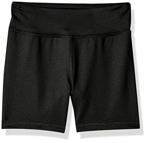 Amazon Essentials Big Girls' Stretch Active Short, Black, XL (Biker Girl)