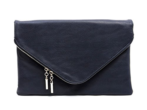 Fashion Fold Envelope Over Purse Deep Body Evening Sea Elphis Cross Large Clutch Bag 4Tq6qp