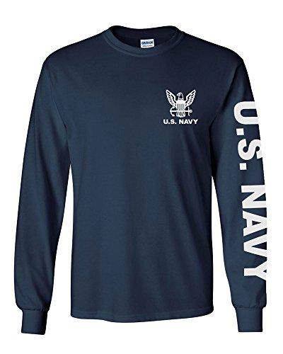 U.S. Navy long sleeve T-shirt. Navy Blue (XL, Navy Blue)