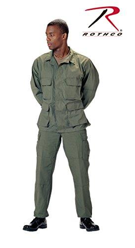 Rothco Bdu Shirt - Olive Drab, Medium (Poly Shirt Bdu Twill)