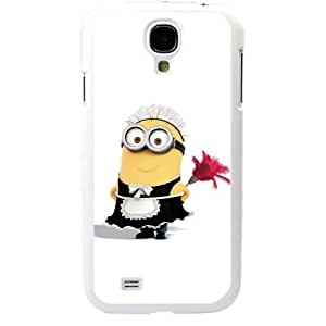 Despicable Me Minions maid Samsung Galaxy S4 SIV I9500 TPU Soft Black or White case (White)