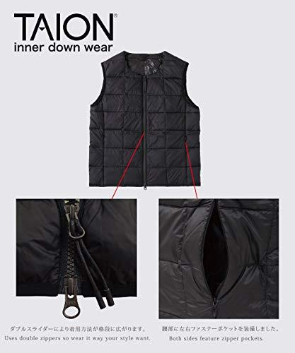 (タイオン)TAION インナーダウン 【レディース】クルーネックWジップ インナーダウンベスト(TAION-005L)