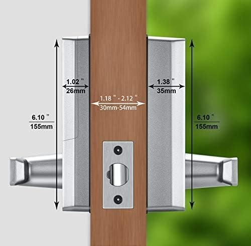 Cerradura Inteligente - ZKTeco DL30B (US) - Smart Lock + 5 Tarjetas RFID - Teclado Digital - Bluetooth 4.0 - Smartphone App - Ideal para Casa, Hoteles, Gym, Dormitorios.: Amazon.es: Bricolaje y herramientas