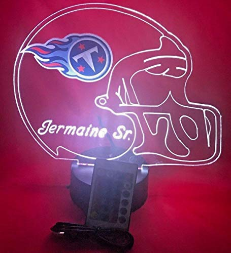 Tennessee Titans NFL Light Up Lamp LED Personalized Free Football Light Up Light Lamp LED Table Lamp, Our Newest Feature - It's Wow, with Remote, 16 Color Options, Dimmer, Free ()
