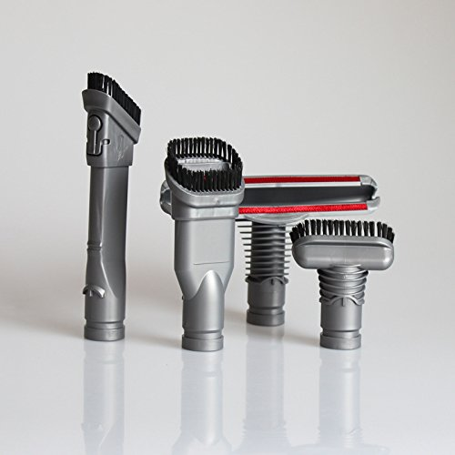 T.Face 4 Pcs Gray Vacuum Cleaner Multi-Purpose Suction Nozzle Brush Head Hoover Tool Brush for Dyson DC16 DC24 DC30 DC31 DC34 DC44 DC59 by T.Face