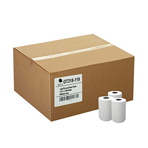 Gorilla Supply (50) 1ply Thermal Paper Rolls 3-1/8 X 119ft ()