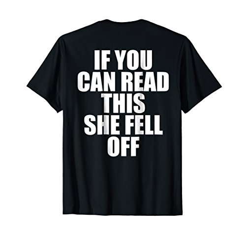 Mens If You Can Read This She Fell Off Moto Shirt - Funny Motorcycle Shirts