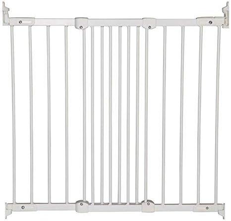 BabyDan – Barrera de seguridad extensible, de metal, color blanco/plateado blanco Metal Blanc/Argent: Amazon.es: Bebé