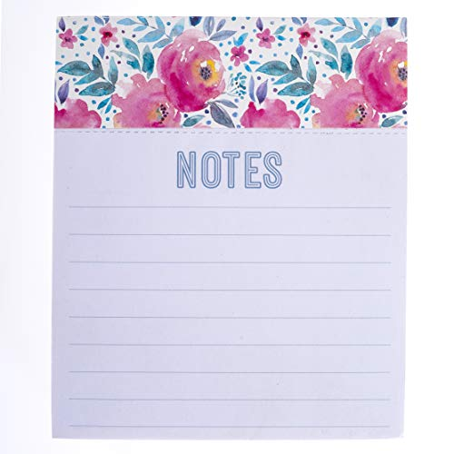 Graphique Hot Pink Roses Jotter Notepad - Pad of Paper Embellished w/Gold Foil, 250 Tearable Pages, Elegant and Fun, Great for Kitchen Counters, Nightstands, Desks, and More, 4.5 x 5.5 x 1