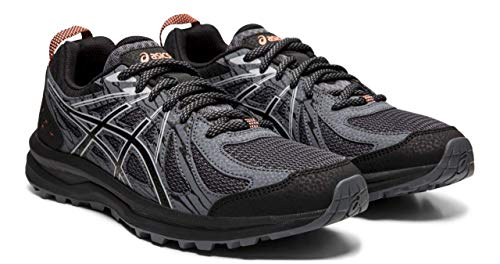 (ASICS Frequent Trail Women's Running Shoes, Black/Piedmont Grey, 9 M US )