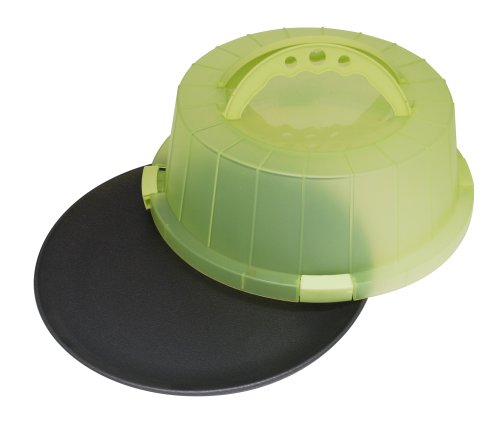 ProBake Teflon Xtra Non-Stick 12-Inch Cake and Pastry Carrier with Matching Cover and Handles, Spring Green