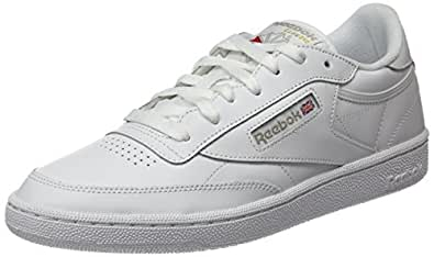 Reebok Women's Club C 85 Trainers, White/Light Grey, 5.5 US