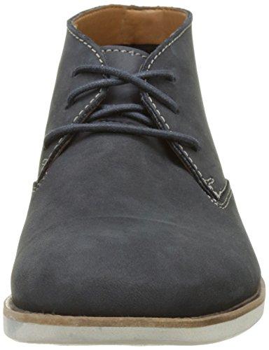 Clarks Franson Top, Zapatos de Cordones Derby para Hombre, Azul (Navy Nubuck), 39.5 EU