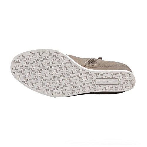 Linea Paolo Frieda | Scarpe Da Donna Con Zeppa Stivaletto Sneaker In Pelle O Pelle Scamosciata Grigio Scuro