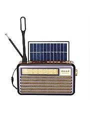 راديو يعمل بالطاقة الشمسية قابل لاعادة الشحن- بلوتوث- 3 اربطة- بطاقة اس دي وذاكرة فلاش ومشغل موسيقى