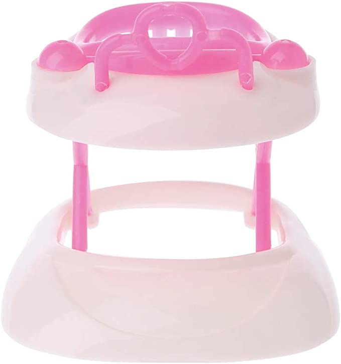 Pink Plastic Walker For Barbie Dolls House Dollhouse Miniature Accessories