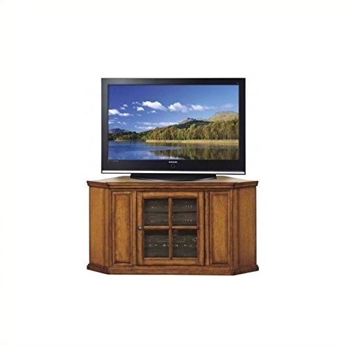 Burnished Oak Tv (Leick Riley Holliday Corner TV Stand, 46-Inch, Burnished Oak)