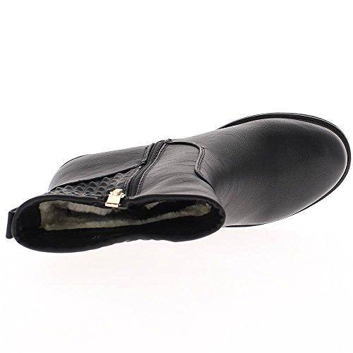 Stivali nero tacco 6,5 cm e spesse suole