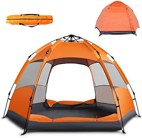 Instant Pop Up Tent Family Camping Tent Portable Light Weight Tents Automatic Easy Setup Tent Waterproof Windproof Backpack Tents for Camping Hiking Outdoor Beach Tent