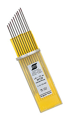 ESAB 0151574051 Tungsten Gold Plus Electrode, WL15, Lathanated 1.6 mm (Pack of 10) ESAB Group (UK) Ltd