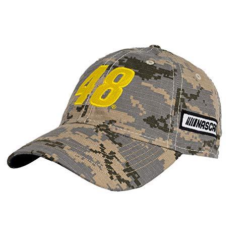NASCAR Hendrick Motorsports Jimmie Johnson Mens Digital Camo CapDigital Camo Cap, Digital Grey/Sand, Adjustable